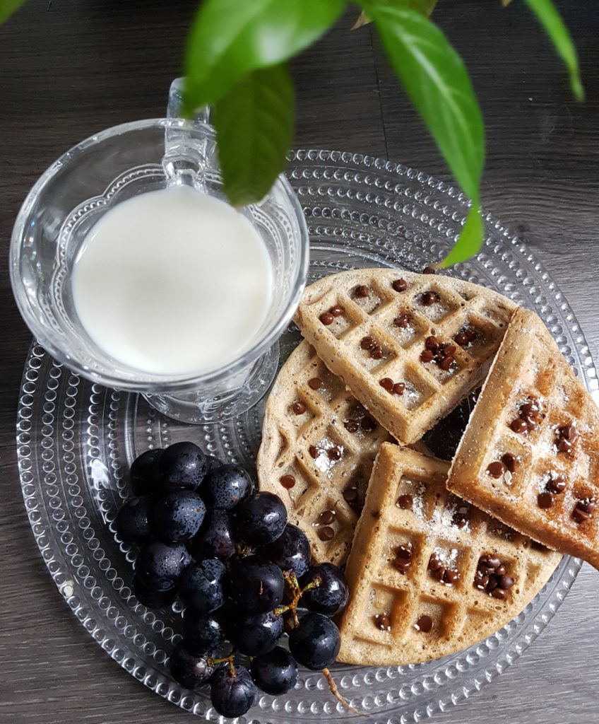 Dairy-free Chocolate Chip Waffles