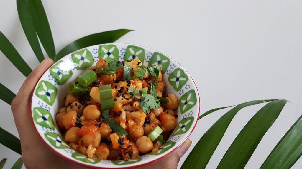 Cauliflower with Chickpeas