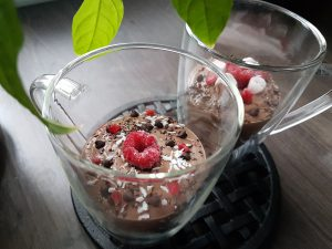 Chocolate Raspberry Cashew Pudding